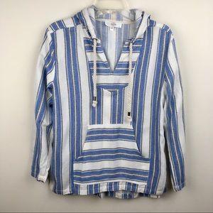 Entro woven Baja style stripe hoodie medium.